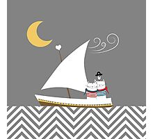 Nautical Cats Photographic Print