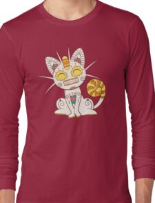 Meowth Pokemuerto | Pokemon & Day of The Dead Mashup Long Sleeve T-Shirt