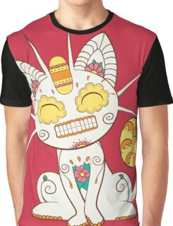 Meowth Pokemuerto | Pokemon & Day of The Dead Mashup Graphic T-Shirt