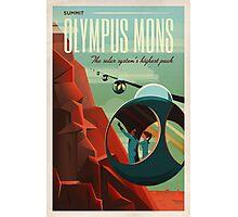 THE VOLCANO OF MARS - Olympus Mons | Space | X | Retro | Vintage | Futurism | Sci-Fi Photographic Print