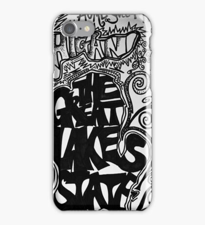 Great lakes state iPhone Case/Skin