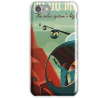 THE VOLCANO OF MARS - Olympus Mons | Space | X | Retro | Vintage | Futurism | Sci-Fi iPhone Case/Skin