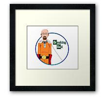 One Punch Man Walter White Framed Print