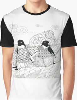 Two Penguins in wait. Graphic T-Shirt