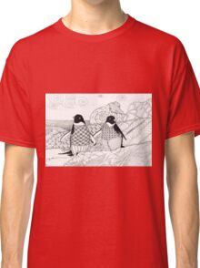 Two Penguins in wait. Classic T-Shirt