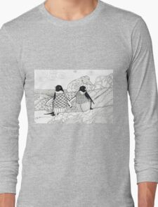 Two Penguins in wait. Long Sleeve T-Shirt