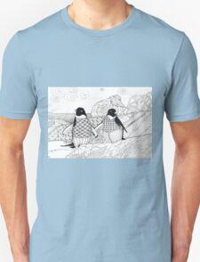 Two Penguins in wait. Unisex T-Shirt