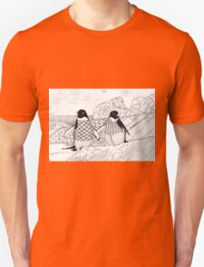 Two Penguins in wait. Unisex T-Shirt