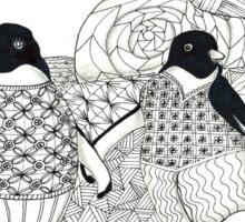Two Penguins in wait. Sticker