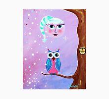 Moon Owl Whimsical Art by Valentina Miletic Unisex T-Shirt