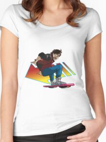 Hoverboard Marty Women's Fitted Scoop T-Shirt