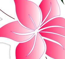 Stylised Pink Green Flower Design  Sticker