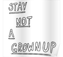 STAY NOT A GROWNUP Poster