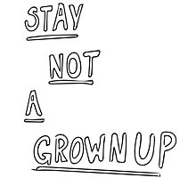 STAY NOT A GROWNUP Photographic Print