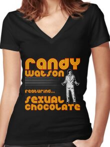 Sexual Chocolate Band Tee Women's Fitted V-Neck T-Shirt