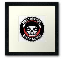 Dark Lord Pug Beast Grumble Framed Print