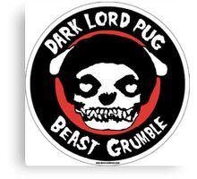 Dark Lord Pug Beast Grumble Canvas Print