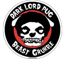 Dark Lord Pug Beast Grumble Photographic Print