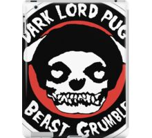 Dark Lord Pug Beast Grumble iPad Case/Skin