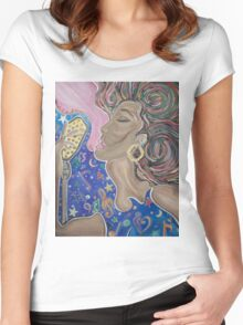 Lady Sings  Women's Fitted Scoop T-Shirt