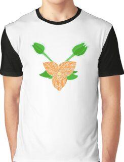 Orange Flower Graphic T-Shirt