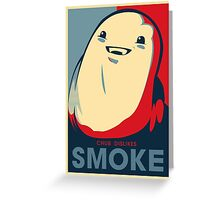 Chub Dislikes Smoke! Greeting Card