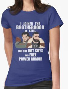 Why I Joined the Brotherhood of Steel Womens Fitted T-Shirt