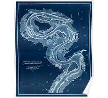Civil War Maps 1167 Mississippi River Inverted Poster