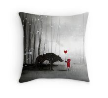 little red riding hood ~ be my valentine Throw Pillow