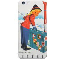 Vintage poster - Austria iPhone Case/Skin
