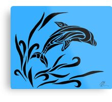 Leaping Dolphin Metal Print
