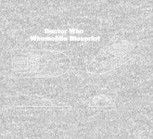 Doctor Who's Whomobile - Blueprint Design Kids Tee