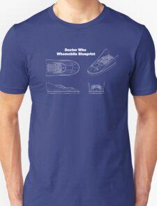 Doctor Who's Whomobile - Blueprint Design Unisex T-Shirt