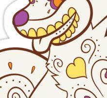 Growlithe Pokemuerto | Pokemon & Day of The Dead Mashup Sticker