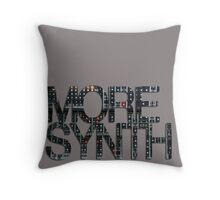 more synth Throw Pillow