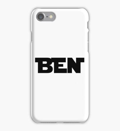 BEN (Black) iPhone Case/Skin