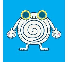 Poliwhirl Pokemuerto | Pokemon & Day of The Dead Mashup Photographic Print