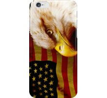 Bald eagle with flag iPhone Case/Skin