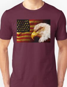 Bald eagle with flag T-Shirt