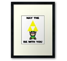 May the Triforce be with you Framed Print