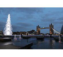 Tower Bridge @ Christmas Photographic Print