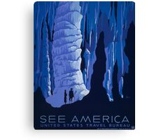 'See America' Vintage Travel Poster (Reproduction) Canvas Print
