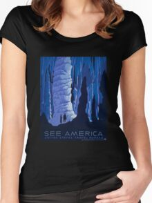 'See America' Vintage Travel Poster (Reproduction) Women's Fitted Scoop T-Shirt