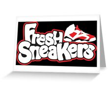 Fresh Sneakers Greeting Card