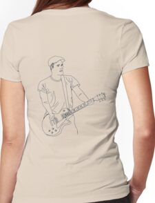 Brian Fallon Line Art Womens Fitted T-Shirt