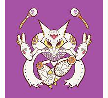 Alakazam Pokemuerto | Pokemon & Day of The Dead Mashup Photographic Print
