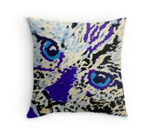 Chopper in purple and Yellow Throw Pillow