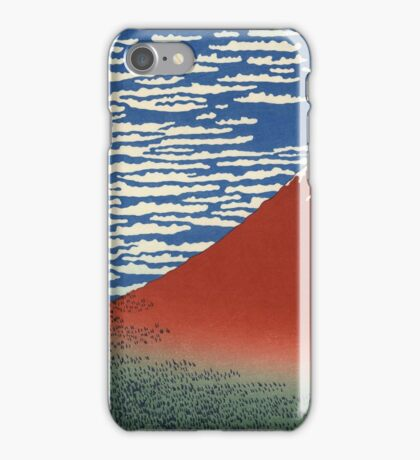 Colorful Fine Wind, Clear Morning Mount Fuji Japan iPhone Case/Skin