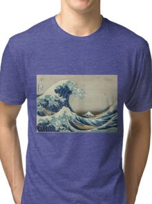 The Great Wave off Kanagawa Tri-blend T-Shirt