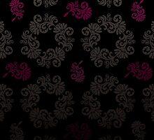 Black floral pattern by rusanovska